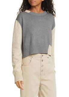 MM6 Maison Margiela Colorblock Crop Sweater