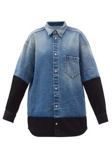 MM6 Maison Margiela Contrast-sleeve denim shirt