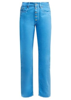 MM6 Maison Margiela Contrast-stitch straight-leg jeans
