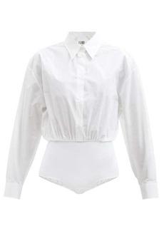 MM6 Maison Margiela Cotton-poplin shirt bodysuit