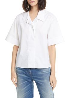MM6 Maison Margiela Crop Cotton Poplin Shirt