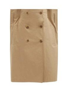 MM6 Maison Margiela Double-breasted cotton-gabardine skirt