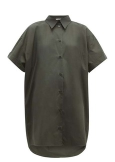 MM6 Maison Margiela Dropped-hem cotton-poplin shirt dress