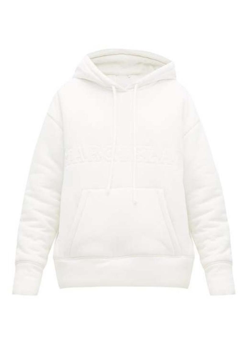 MM6 Maison Margiela Embroidered-logo padded hooded sweatshirt