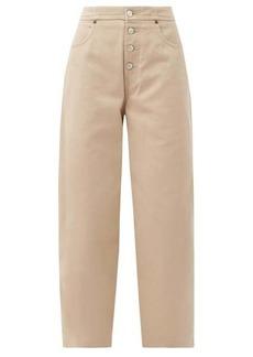 MM6 Maison Margiela Exposed-button straight-leg jeans