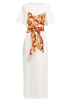MM6 Maison Margiela Floral-panel cotton T-shirt dress