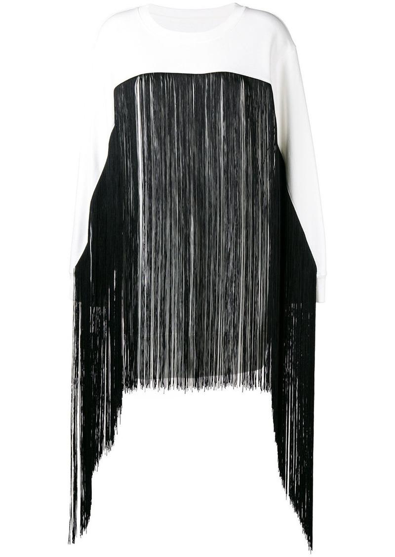Maison Margiela fringed long-line sweater