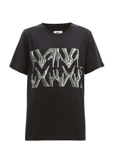 MM6 Maison Margiela Hand-print cotton T-shirt