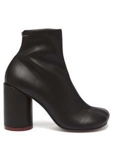 MM6 Maison Margiela Heel-stamp leather boots