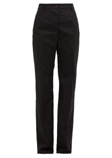 MM6 Maison Margiela High-rise cotton wide-leg trousers