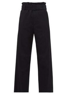 MM6 Maison Margiela High-rise cropped wool-blend trousers