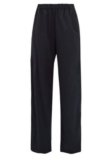 MM6 Maison Margiela High-rise wide-leg pinstriped twill trousers