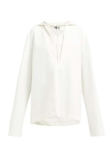 MM6 Maison Margiela Hooded cotton-blend sweatshirt