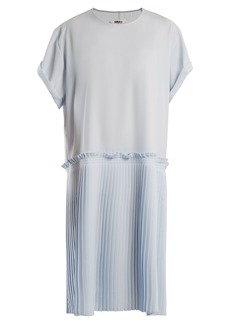 MM6 Maison Margiela Knife-pleated crepe-cady dress