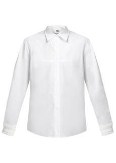MM6 Maison Margiela Lace-embellished cuff cotton-poplin shirt