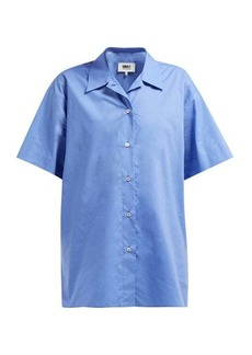 MM6 Maison Margiela Layered cotton-poplin shirt