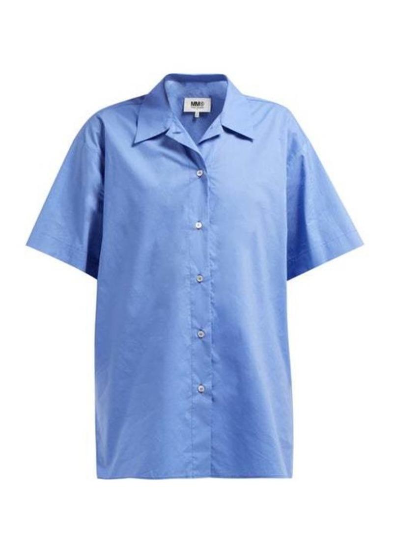 MM6 Maison Margiela Layered cotton-poplin shirt