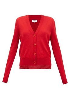 MM6 Maison Margiela Layered wool-blend cardigan