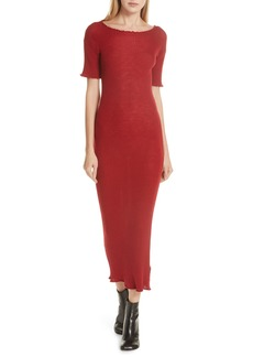 MM6 Maison Margiela Lettuce Edge Wool Dress
