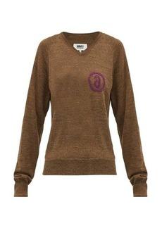 MM6 Maison Margiela Logo-jacquard wool-blend sweater