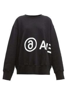 MM6 Maison Margiela Logo-print cotton sweatshirt