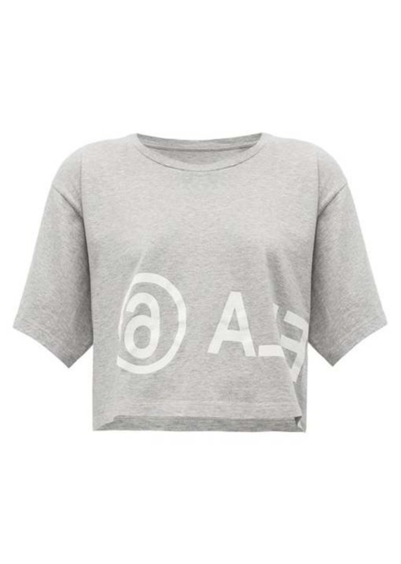 MM6 Maison Margiela Logo-print cropped cotton-jersey T-shirt