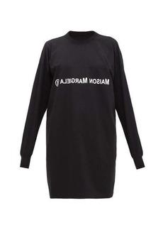 MM6 Maison Margiela Logo-print deconstructed T-shirt dress