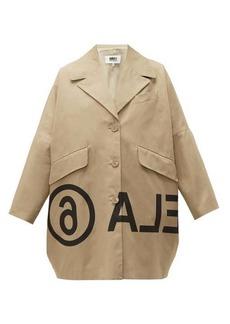 MM6 Maison Margiela Logo-print oversized cotton-twill jacket