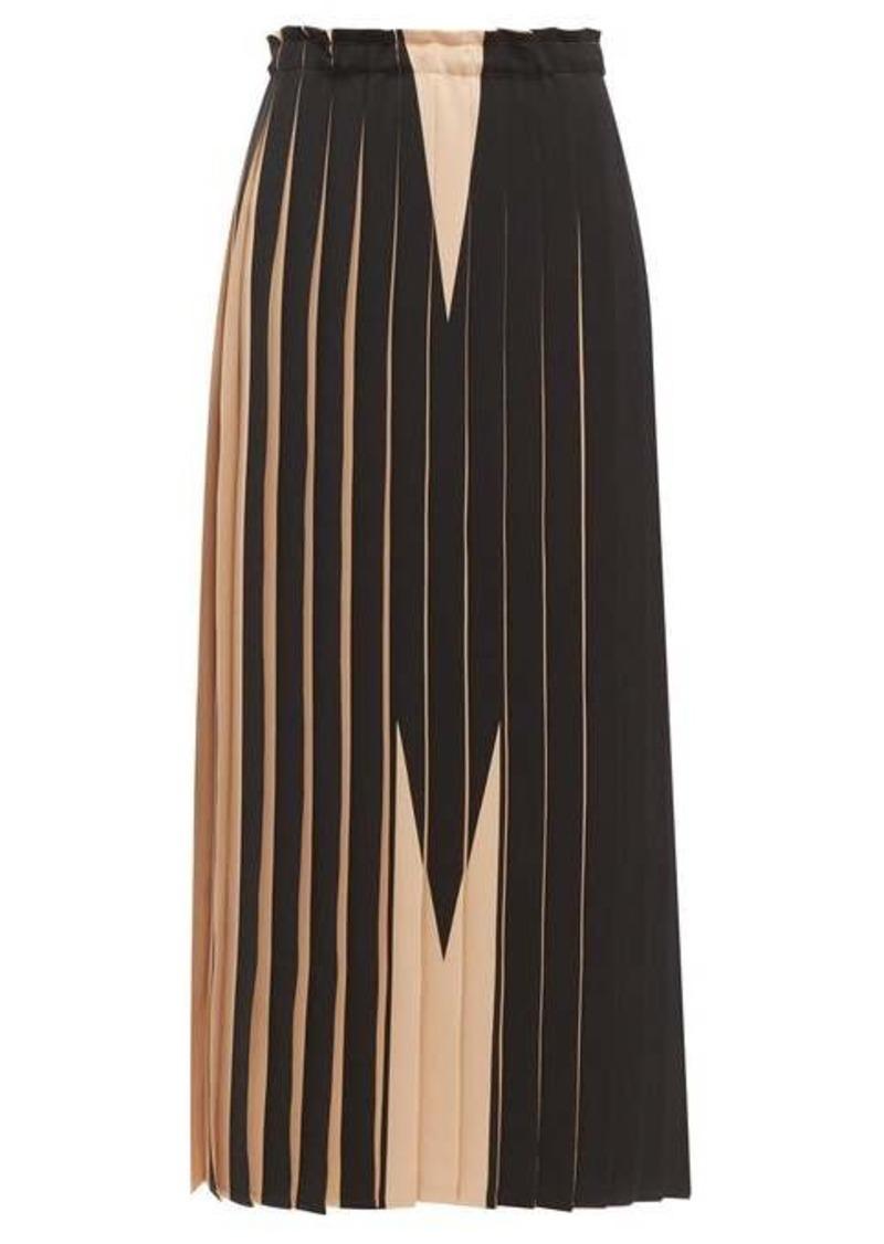 MM6 Maison Margiela M pleated maxi skirt