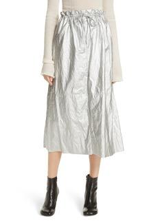 MM6 Maison Margiela Metallic Coated Skirt