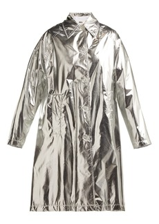 MM6 Maison Margiela Metallic rain mac