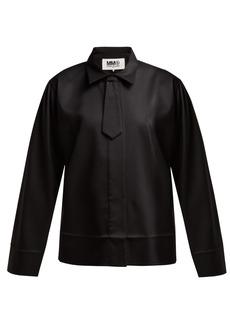 MM6 Maison Margiela Neck-tie twill shirt