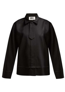 MM6 Maison Margiela Neck-tie twill shirt