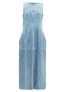 MM6 Maison Margiela Open-back panelled denim dress