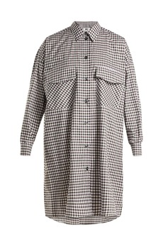 MM6 Maison Margiela Oversized checked cotton-poplin shirtdress