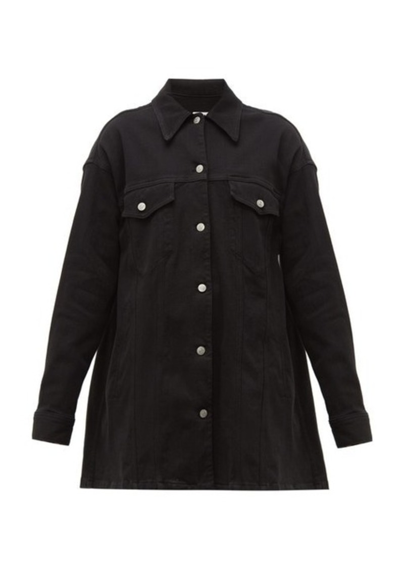 MM6 Maison Margiela Oversized cotton-blend twill jacket