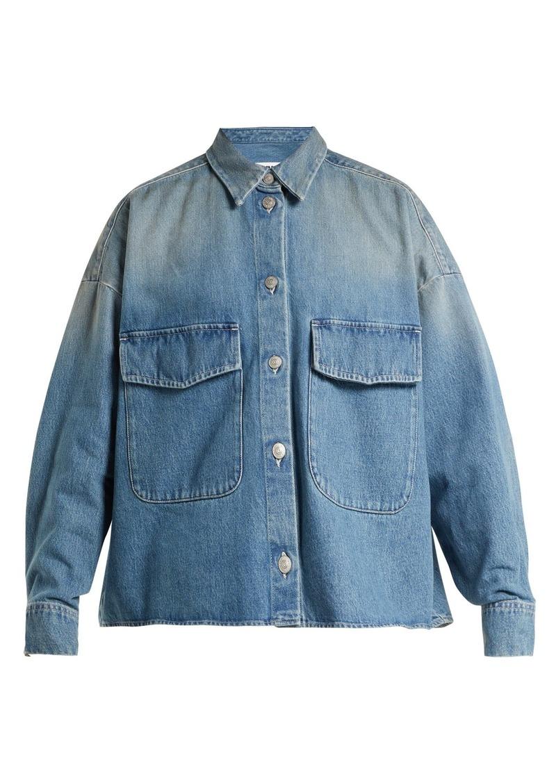 3d55373371c Maison Margiela MM6 Maison Margiela Oversized denim shirt jacket ...