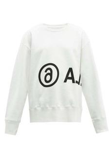 MM6 Maison Margiela Oversized logo-print cotton sweatshirt