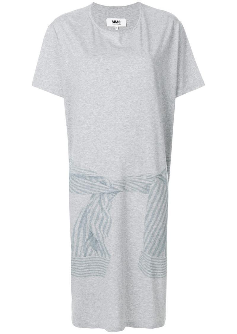 Maison Margiela Mm6 Oversized T Shirt Dress Grey