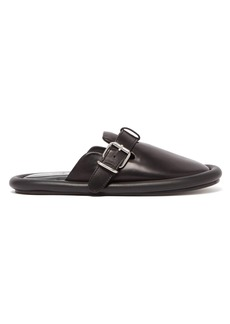 MM6 Maison Margiela Padded leather backless loafers
