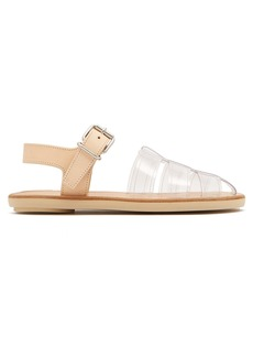 MM6 Maison Margiela Perspex and leather cage sandals