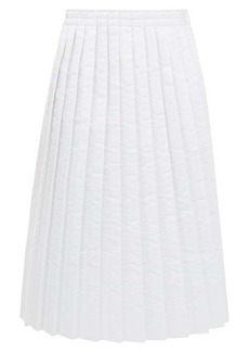 MM6 Maison Margiela Pleated padded technical-fabric skirt