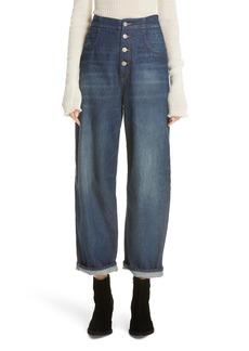 MM6 Maison Margiela Relaxed Wide Leg Jeans (Dark Garage Indigo)