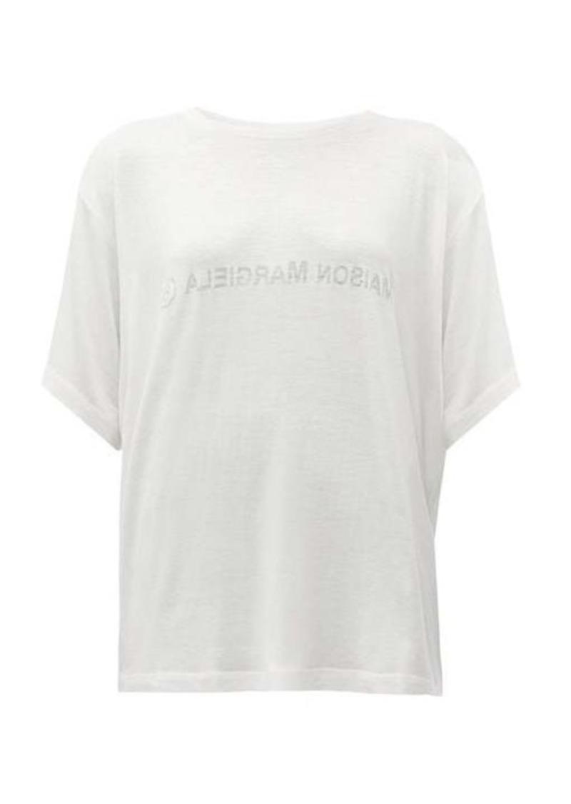 MM6 Maison Margiela Reverse-face logo-print T-shirt