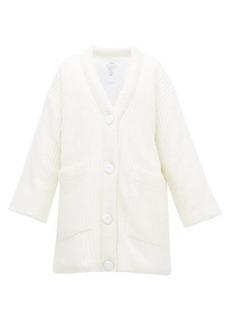 MM6 Maison Margiela Rib-knit padded wool-blend cardigan
