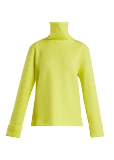 MM6 Maison Margiela Ribbed technical-jersey roll-neck sweater