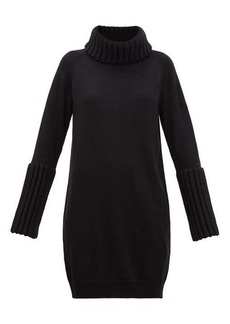 MM6 Maison Margiela Ribbed-trim roll-neck sweater dress