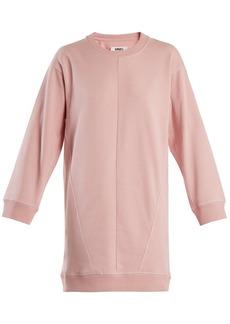 MM6 Maison Margiela Round-neck cotton sweatshirt dress