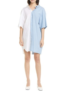 MM6 Maison Margiela Ruffle Back Poplin Shirtdress