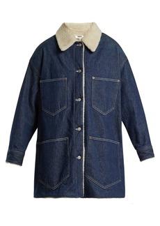 MM6 Maison Margiela Shearling-lined denim coat